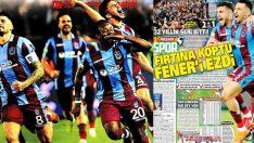 Trabzonspor'un galibiyeti manşetlerde.. 26 Kasım 2018 sporun manşetleri
