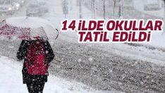 14 ilde okullara kar tatili.. Hangi illerde okullar tatil?