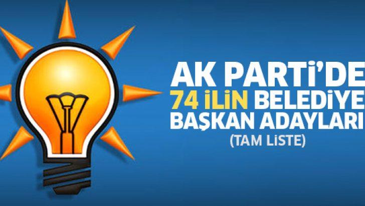 Ak Parti'de 74 ilin Belediye Başkan adayları belli oldu! Ak Parti 2019 Belediye Başkan adayları (74 il tam liste)