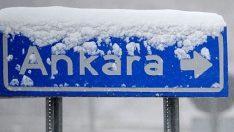 Ankara beyaza büründü! Ankara hava durumu