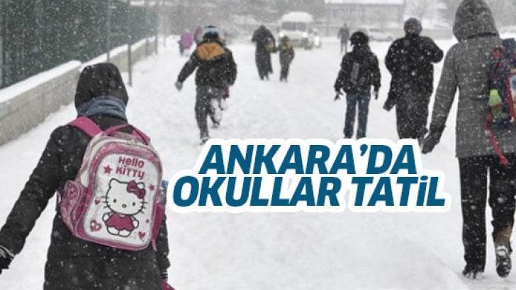 Ankara'da kar yağışı nedeniyle okullar tatil