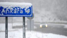 Ankara'ya hava durumu uyarısı! Ankara'da kar yağacak mı? 7 Aralık 2018 Ankara haritalı hava durumu