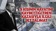 Cumhurbaşkanı Erdoğan'dan Ankara'daki tren kazasıyla ilgili Jet talimat!