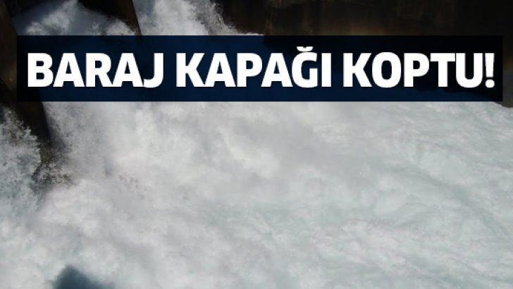 Diyarbakır Dicle Barajı'nın kapağı koptu! Diyarbakır'da su seviyesi yükseliyor