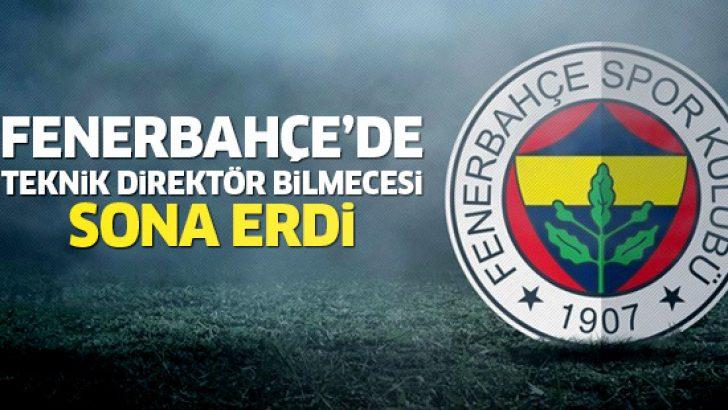 Fenerbahçe'den flaş Teknik Direktör kararı!