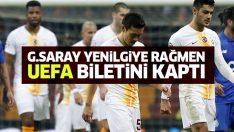 Galatasaray yenilgiye rağmen yola UEFA'da devam edecek!