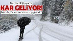 İstanbul'a kar ne zaman yağacak? Meteoroloji uyardı! İstanbul ve Ankaralılar dikkat!