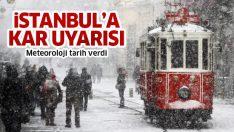 İstanbul'a yeniden kar geliyor! Meteoroloji tarih verdi (5 günlük haritalı hava durumu)