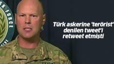 Türk askerine hakaret içeren tweeti paylaşan ABD'li Albay Türkiye'den özür diledi