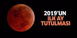2019'un ilk ay tutulması olan 'Süper Kanlı Kurt Ay' gerçekleşti