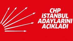 CHP, İstanbul 2019 Belediye Başkan adaylarını açıkladı