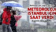 İstanbul'a beklenen kar geliyor… Meteoroloji İstanbul için saat verdi! (İstanbul hava durumu 5 günlük)