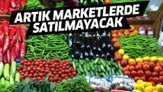 Patlıcan ve bibere marketlerde raf yasağı geldi!