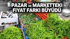 Pazar ve market fiyatları arasında uçurum büyüdü! Pazarda 4, markette 8,5 lira…