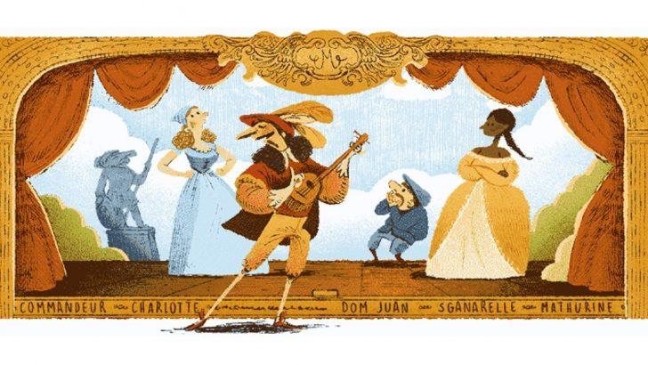 Google, Fransız yazar Moliere'yi unutmadı! Moliere kimdir?