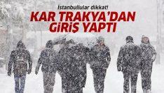 İstanbullular dikkat! Kar Trakya'dan giriş yaptı! Meteoroloji'den 5 günlük İstanbul hava durumu
