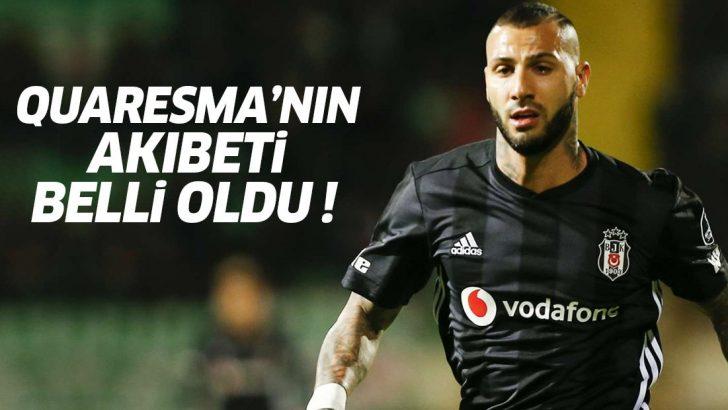 Quaresma transferinde flaş gelişme! Beşiktaş'ta kalıp kalmayacağı kesinleşti
