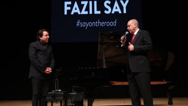 Erdoğan: Fazıl Say 29 Ekim'de konser verecek