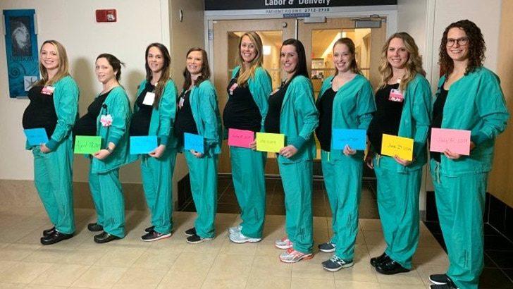 Herkes bu hastaneyi konuşuyor! 9 hemşire birden hamile!