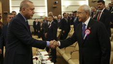 Cumhurbaşkanı Erdoğan ile Kılıçdaroğlu, saldırıdan sonra ilk kez bir araya geldiler