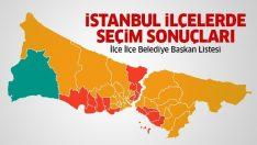 İstanbul 2019 yerel seçim sonuçları (İstanbul'un ilçeleri belediye başkanları listesi)