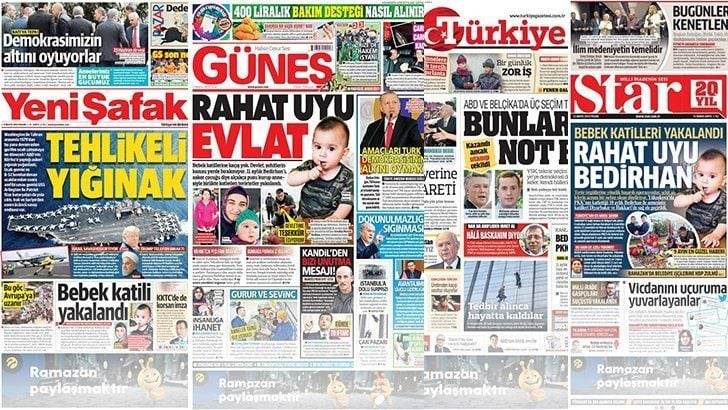 12 Mayıs 2019 günün gazete manşetleri