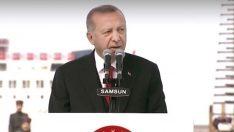 Başkan Erdoğan Samsun'da konuştu: Dahili bedhahlara rağmen yürüyoruz!