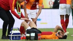 Rizespor-Galatasaray maçında şok sakatlık! Emre Akbaba'nın bacağı kırıldı!