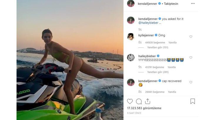 Kendall Jenner bikinisiyle jet skiden kapak açtı!