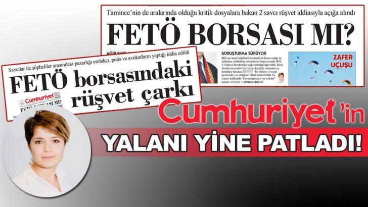 Cumhuriyet'in yalan 'FETÖ Borsası' haberine dava!