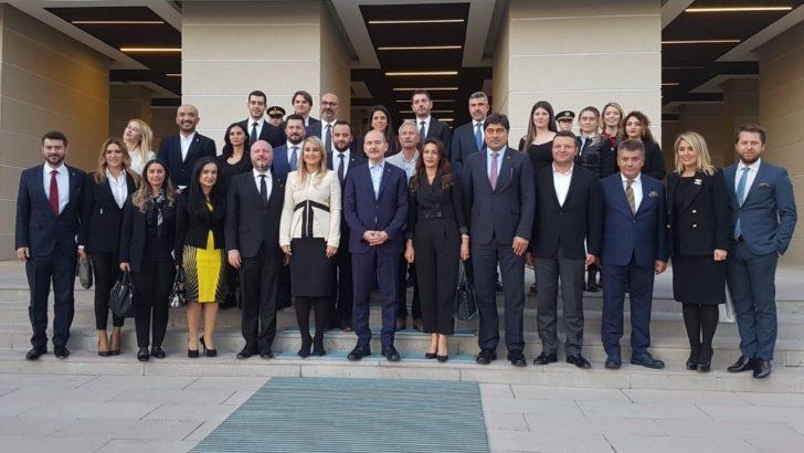İÇGİAF'tan İçişleri Bakanı'na ziyaret: Terörle mücadelede bölgeye yatırım yapmaya hazırız!