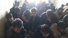 Metruk binadan 84 kaçak göçmen çıktı