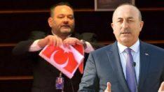 Yunan vekilin bayrak yırtma hadsizliğine Çavuşoğlu'ndan tepki!