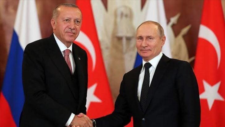 Erdoğan, Rusya Devlet Başkanı Vladimir Putin ile telefonda görüştü