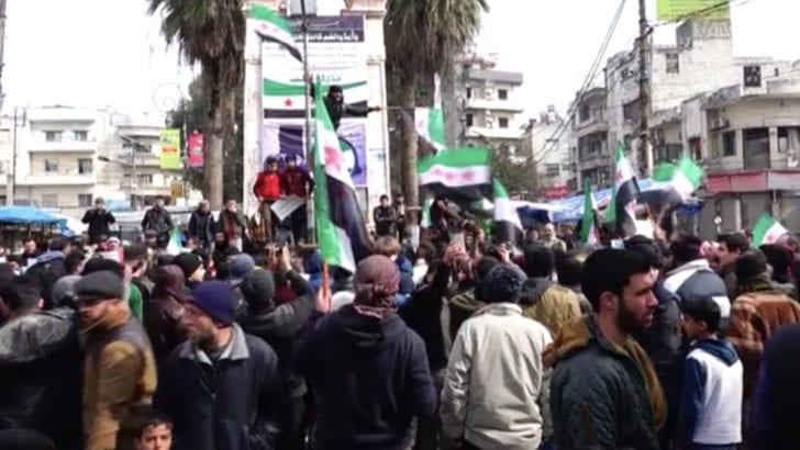 İdlib halkından Türkiye'ye destek