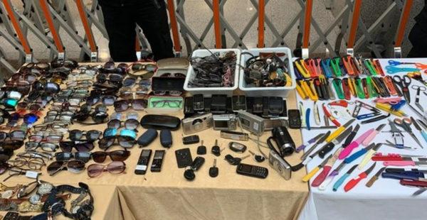 İstanbul Adalet Sarayı'nda ilginç sergi! Adliyeye girişlerde ele geçirilen aletler şoke etti