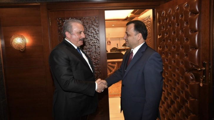 TBMM Başkanı Mustafa Şentop'tan AYM Başkanı ve yeni üyelerine ziyaret