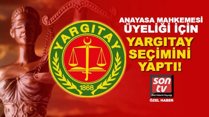 Anayasa Mahkemesi üyeliği için Yargıtay'da seçim yapıldı! En çok oyu Basri Bağcı aldı