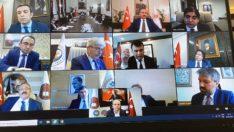 Adalet Bakanlığı ve HSK'dan video konferanslı Koronavirüs görüşmesi