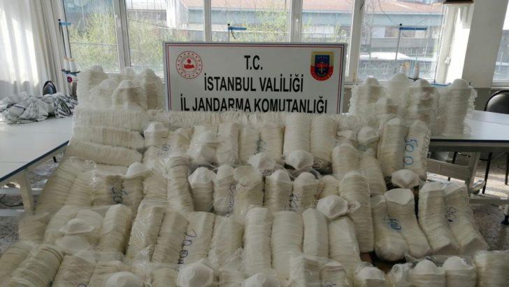 Jandarma'dan kaçak maske operasyonu! Yaklaşık 1 milyon liralık maske ele geçirildi