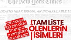 New York Times salgında ölenleri manşete taşıdı