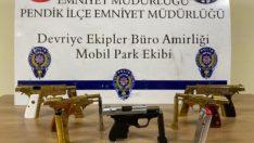 İstanbul'da ruhsatsız tabanca operasyonu