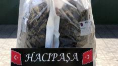 Hudut kartalları, 4 kg kubar esrar ve 6.280 paket kaçak sigara ele geçirdi