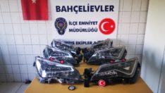 İstanbul Bahçelievler'de far hırsızlığına operasyon