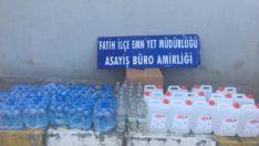 İstanbul Fatih'te kaçak alkol operasyonu