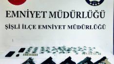 İstanbul Şişli'de uyuşturucu tacirlerine baskın