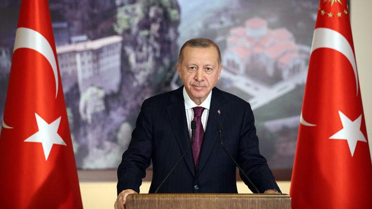 Cumhurbaşkanı Erdoğan'dan Trump çiftine geçmiş olsun mesajı
