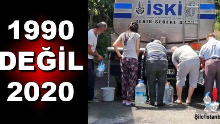 Şile'de vatandaşlar su kuyruğuna girdi