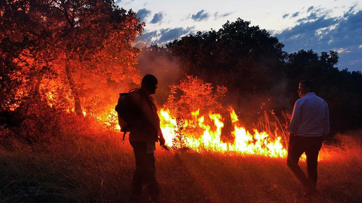 Bulgaristan'daki söndürülemeyen yangın için Edirne'de kriz masası oluşturuldu