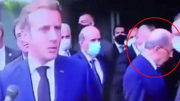 Fransa Cumhurbaşkanı'ndan Lübnanlı mevkidaşına Lübnan'da saygısızlık!